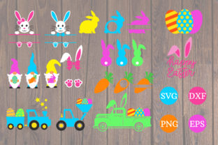 Print on Demand: Easter Bundle Graphic Print Templates By dadan_pm