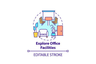 Print on Demand: Explore Office Facilities Concept Icon Graphic Icons By bsd studio