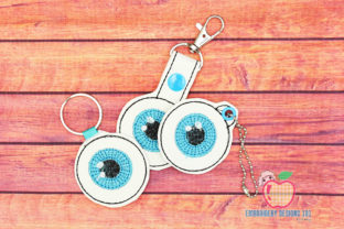Eye Shape ITH Key Fob Pattern Backgrounds Embroidery Design By embroiderydesigns101