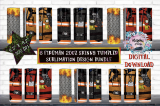 Print on Demand: Fireman|Skinny Tumbler Bundle Graphic Crafts By Susan Alajoki