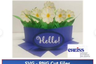 Flowers Bouquet Pop-Up Card W/ Envelope Graphic 3D Flowers By Cheiss Designs