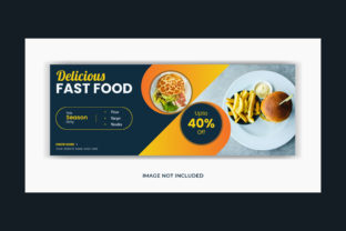 Food Facebook Cover Banner Social Media Graphic Web Templates By grgroup03