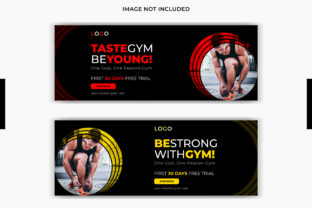 Gym Facebook Cover Social Media Post Graphic Web Templates By grgroup03