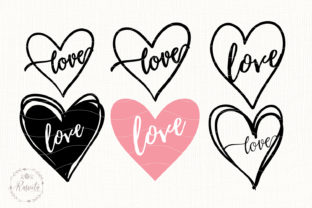 Heart with the Word Love Graphic Illustrations By Rasveta