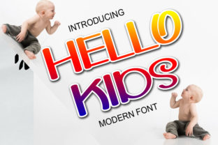 Print on Demand: Hello Kids Display Font By ABBAsalam
