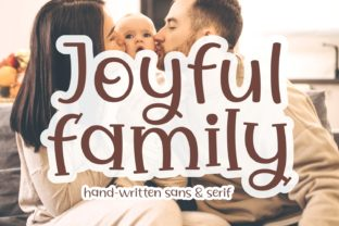 Print on Demand: Joyful Family Display Font By Keithzo (7NTypes)