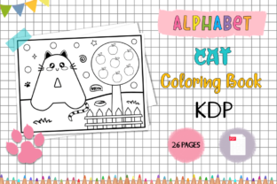 KDP Alphabet Cat Coloring Book for Kids Graphic Coloring Pages & Books Kids By Miss Cherry Designs