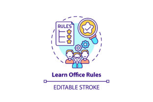 Print on Demand: Learn Office Rules Concept Icon Graphic Icons By bsd studio