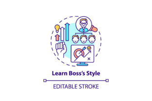 Print on Demand: Learn Style of Boss Concept Icon Graphic Icons By bsd studio