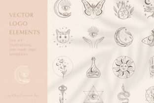 Print on Demand: Logo Elements Vector Illustrations. Eyes Graphic Logos By Olya.Creative