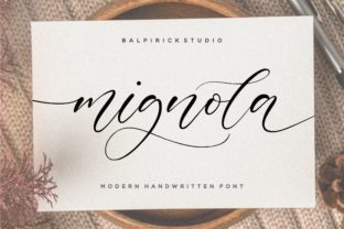 Print on Demand: Mignola Script & Handwritten Font By Balpirick