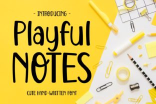 Print on Demand: Playful Notes Display Font By Keithzo (7NTypes)