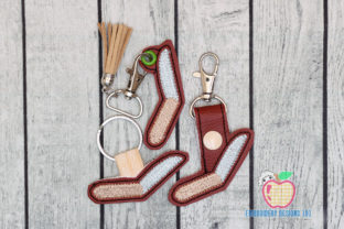 Pocket Knife Camper ITH Keyfob Design Camping & Fishing Embroidery Design By embroiderydesigns101