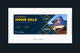Real Estate Facebook Cover Banner Design Graphic Web Templates By grgroup03