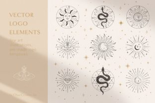Print on Demand: Sacred Sun Logo Design Illustrations. Grafik Logos von Olya.Creative