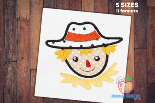 Scarecrow in Farm Applique Design Backgrounds Embroidery Design By embroiderydesigns101