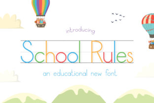 Print on Demand: School Rules Sans Serif Font By Salt & Pepper Designs