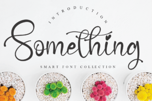 Print on Demand: Something Script & Handwritten Font By Creativewhitee