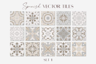 Spanish Tiles - Vector Set 1 Graphic Illustrations By ilonitta.r
