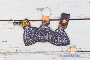 Stylish Girl Dress ITH Keyfob Design Clothing Embroidery Design By embroiderydesigns101