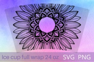Print on Demand: Sunflower Full Wrap  Graphic Crafts By Cnxsvg