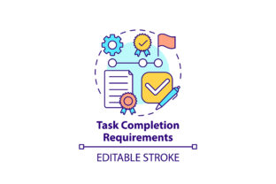 Print on Demand: Task Completion Requirements Icon Graphic Icons By bsd studio