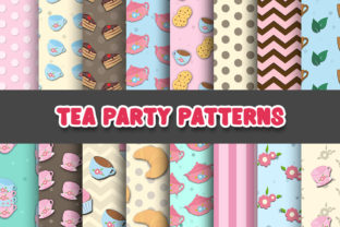Print on Demand: Tea Party Digital Papers Patterns Graphic Patterns By Grafixeo