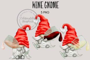 Wine Gnome Clipart Graphic Illustrations By Celebrately Graphics