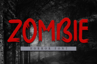 Print on Demand: Zombie Display Font By ONE DESIGN