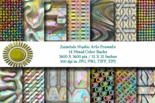Print on Demand: 12 Mixed Colors Backgrounds Graphic Backgrounds By Zaimfuls Mystic Arts