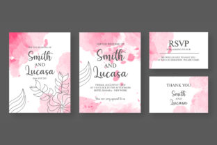Print on Demand: Abstract Wedding Invitation Card Graphic Print Templates By Riduwan Molla