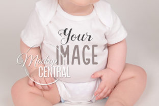 Baby Model Wearing Onepiece Shirt Graphic Product Mockups By Mockup Central