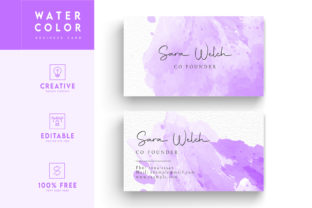 Print on Demand: Business Card - Watercolor Background Graphic Print Templates By Riduwan Molla