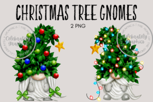 Christmas Tree Gnome Clipart Graphic Illustrations By Celebrately Graphics