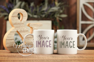 Couple Coffee Glass Mug Mockup Graphic Product Mockups By Mockup Central