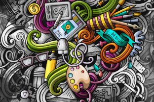 Doodles Graphic ARTIST Wallpaper Graphic Backgrounds By BalabOlka