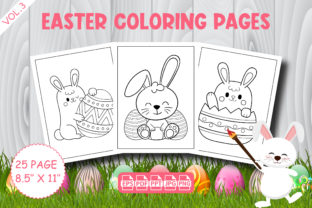 Easter Coloring Pages for Kids - Vol. 3 Graphic Coloring Pages & Books Kids By Vibgyor