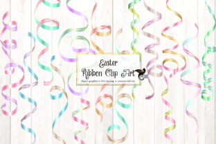 Print on Demand: Easter Ribbon Clipart Graphic Illustrations By Digital Curio