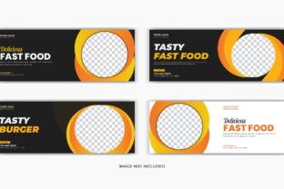 Print on Demand: Food Restaurant 4 Facebook Cover Bundle Graphic Web Templates By grgroup03