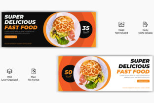 Food Restaurant Faccebook Cover Banner Graphic Web Templates By grgroup03