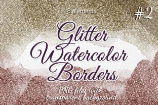Glitter Borders Gold Silver Clipart Graphic Objects By SweetRenieShop