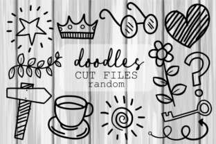 Print on Demand: Hand Drawn Random Doodle Icons Cut Files Graphic Crafts By Prawny