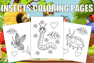 Print on Demand: Insects Coloring Pages for Kids Graphic Coloring Pages & Books Kids By Trend Color