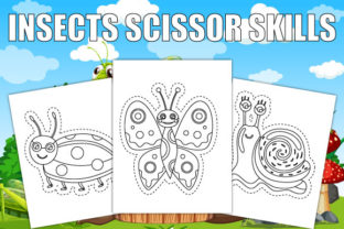 Print on Demand: Insects Scissor Skills Coloring Book Graphic Coloring Pages & Books Kids By Trend Color