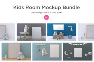 Kids Frames & Wall Mockup Vol - 2 Graphic Product Mockups By shahsoft
