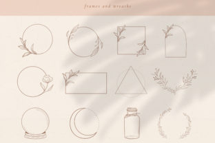 Print on Demand: Logo Elements, Frames and Borders. Round Graphic Illustrations By Olya.Creative