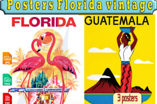 Print on Demand: Poster Florida Vintage Graphic Illustrations By kdp Edition