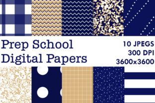 Print on Demand: Prep School Digital Papers Graphic Backgrounds By G.Gray