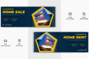 Real Estate Home Rent Facebook Cover Graphic Web Templates By grgroup03