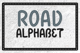 Road Alphabet Kids Letters SVG Clipart Graphic Illustrations By rabbitandpencil